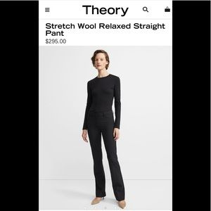 Theory Stretch Virgin Wool Relaxed Straight Pants